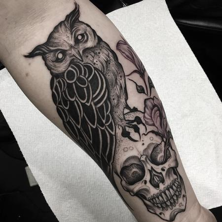 tattoos/ - Blackwork Owl and Skull - 120315